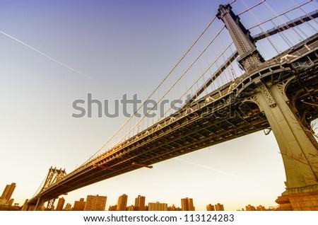 Bridge of New York City, U.S.A.