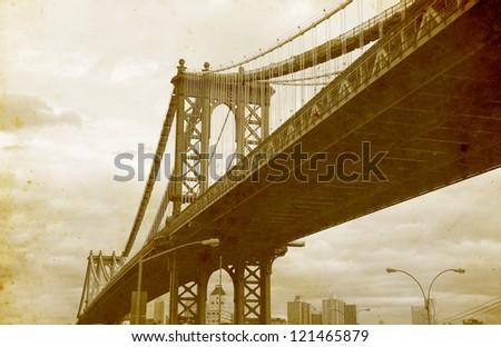 bridge of new york city  u.s.a. ...