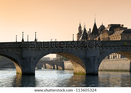 bridge of pont neuf in Paris