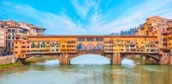Bridge of Ponte Vecchio on the river Arno - Florence, Italy