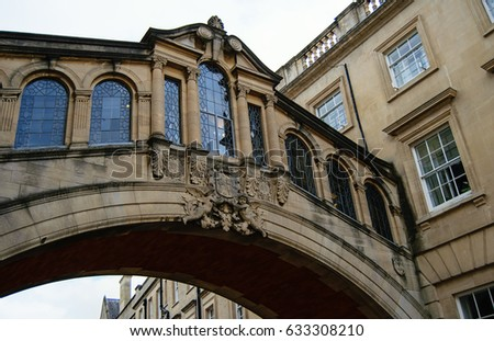 Bridge of Sighs in Oxford, UK #633308210