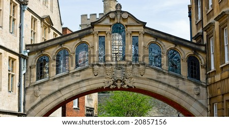 Bridge of Sighs, Oxford - stock photo