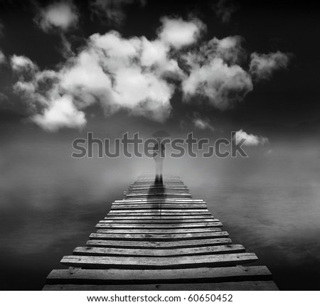 Bridge of the dream (conceptual surreal style)