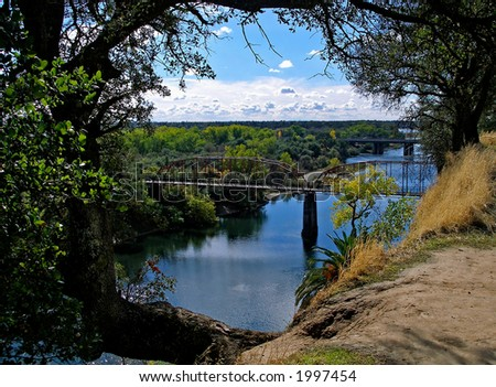 Bridge on American River in Sacramento Area