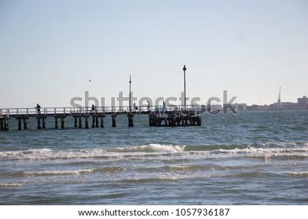 bridge on port Melbourne #1057936187