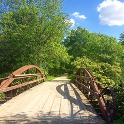 Bridge on the walking trail in Downers Grove, Illinois