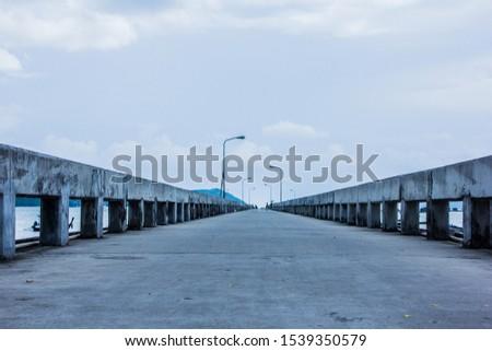 Bridge or wharf of a fisherman #1539350579