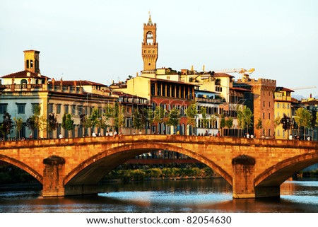 Bridge over Arno River, Florence, Italy,Europe