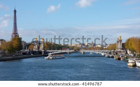 Bridge over river - stock photo
