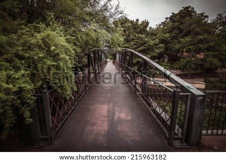 Bridge over San Antonio River, San Antonio, Texas, USA