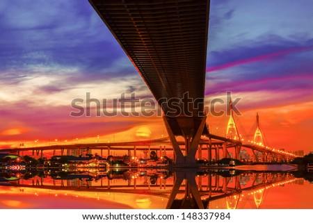 Bridge over the Chao Phraya River in Bangkok