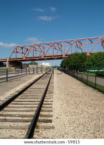 bridge over train tracks