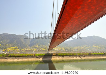 Bridge Over Yangtze River Downstream From Three Gorges Dam - Sandouping, Yichang, China