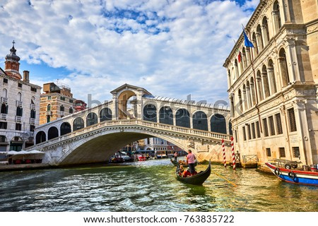 bridge rialto on grand canal...