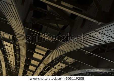 Bridge structural element. I tried to play with lights and steel. #505119208