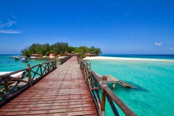 Bridge to enter Prison Island, Zanzibar