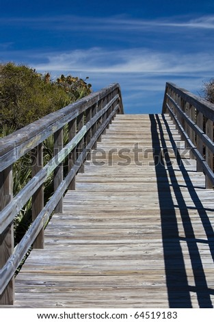 Bridge to nowhere - stock photo