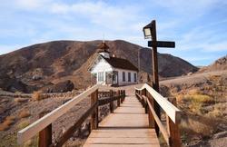 Bridge to school Calico California