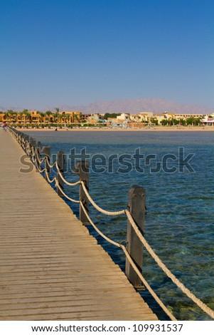 Bridge to the beach