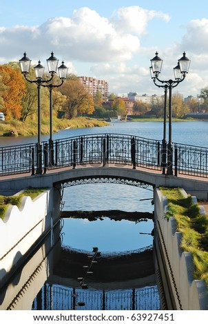 Bridge with lanterns
