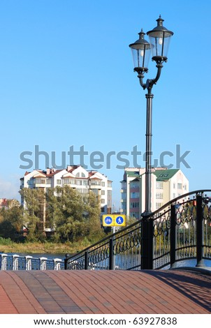 Bridge with lanterns