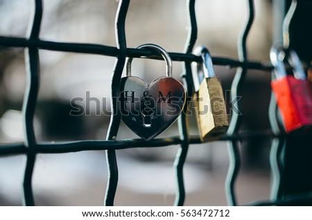 bridge with padlocks in zurich