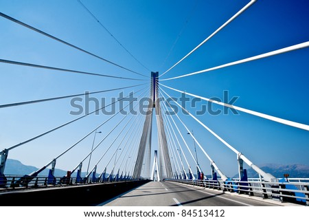 Bridge with wires #84513412