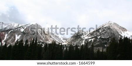 Bridger mountain range in Bozeman, Montana