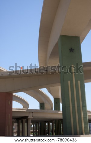 bridges and overpasses in the Dallas High Five interchange