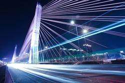 Bridges and urban night in Guangzhou, China