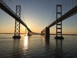 bridges near Baltimore at sunset