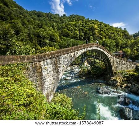 bridges old bridges historic bridges green nature water colorful  #1578649087