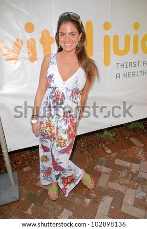 Bridgetta Tomarchio at the Vital Juice Pop-Up Wellness Retreat, Sunset Marquis, West Hollywood, CA. 04-09-10