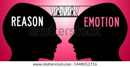 Bridging the gap between reason and emotion Photo stock ©