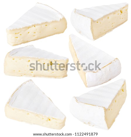 Brie Cheese (Camembert cheese) Isolated On White
