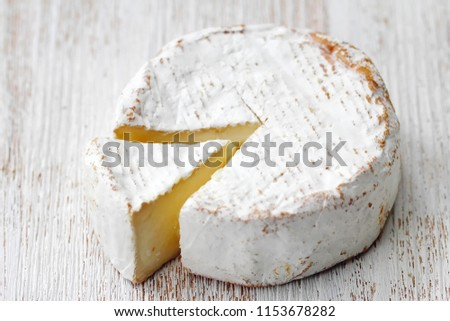 Brie type of cheese. Camembert cheese. National cuisine
