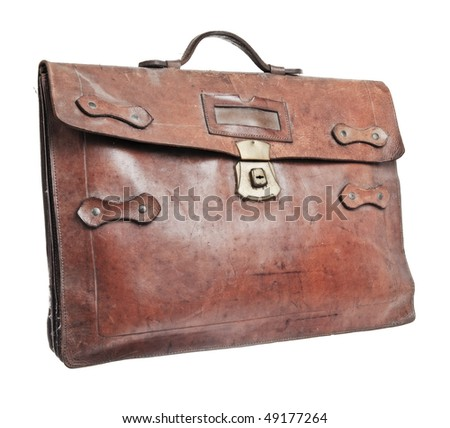 Brief case isolated against a white background