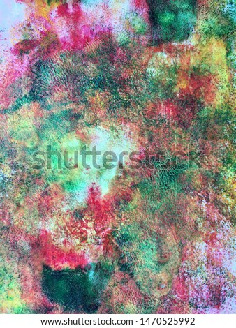 Bright abstract background, in bright green and pink colors. It's like colored dust.