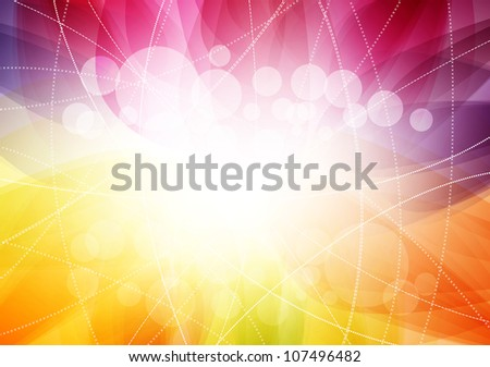 Bright abstract background. Raster version