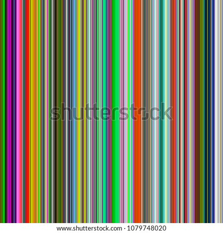 Bright abstract of contiguous vertical stripes for decoration and background with themes of repetition, conformity, variation vibrant vertical abstraction lines background