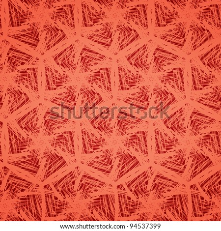 Bright abstract scribble pattern in tangerine red for background