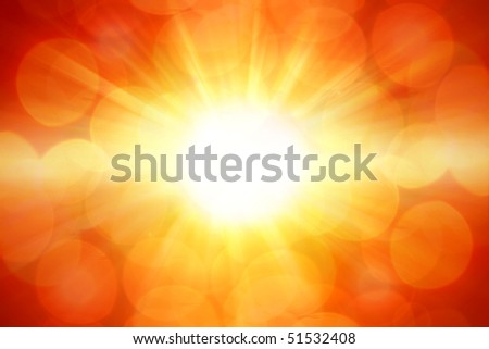 Bright abstract yellow and orange explosion sunlight background