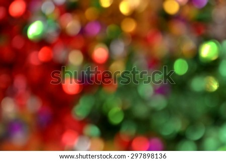 Bright and abstract blurred colorful rainbow background with shimmering glitter #297898136
