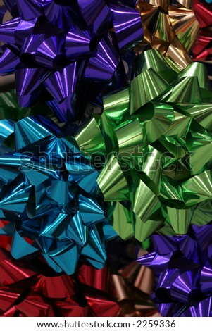 bright and colorful bows