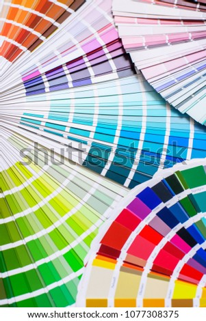 bright and colorful palette of different colors for design #1077308375