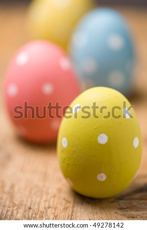 Bright and colourful Easter eggs