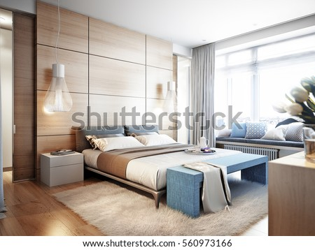 bright and cozy modern bedroom...