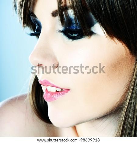 bright beautiful young woman