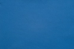 Bright blue artificial leather with large texture.