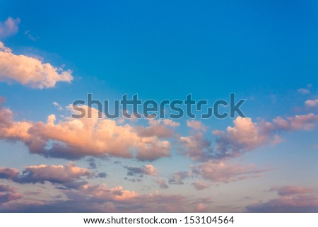 Bright Blue Color Sunset Sky